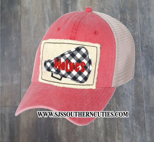 Customized Team Cheer Megaphone Patch Trucker Hat