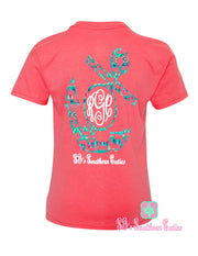 Monogrammed Youth Chevron Anchor T-Shirt - SJ's Southern Cuties