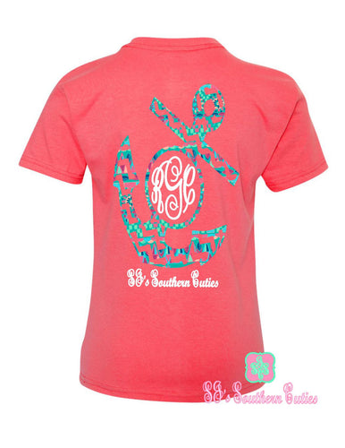 Youth Monogrammed Lilly Anchor shirt