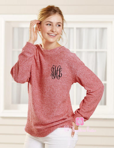 Monogrammed Boxer Cozy Sweater