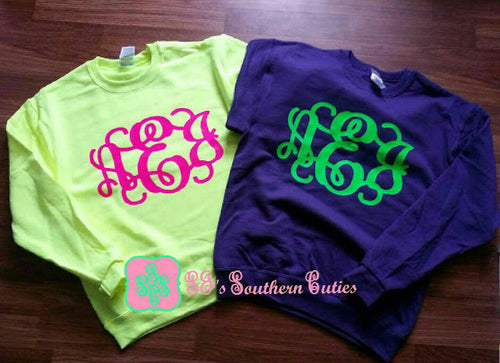 Monogrammed Youth Sweat