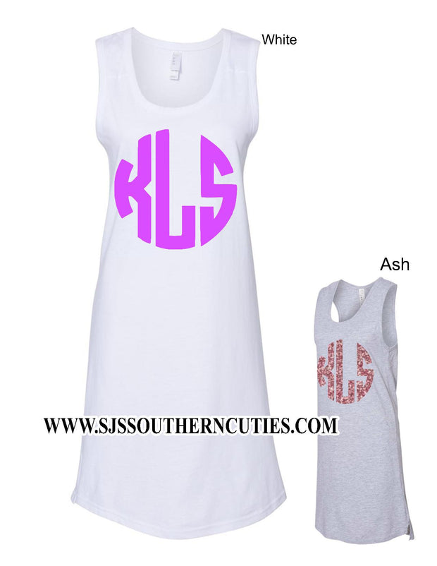 Monogrammed Tank Cover Up Dress - SJ's Southern Cuties
