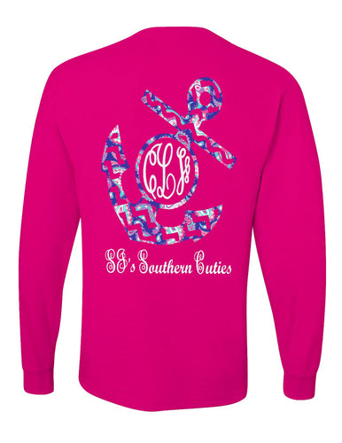aa60bb971 Shirts - monogrammed chevron anchor shirt