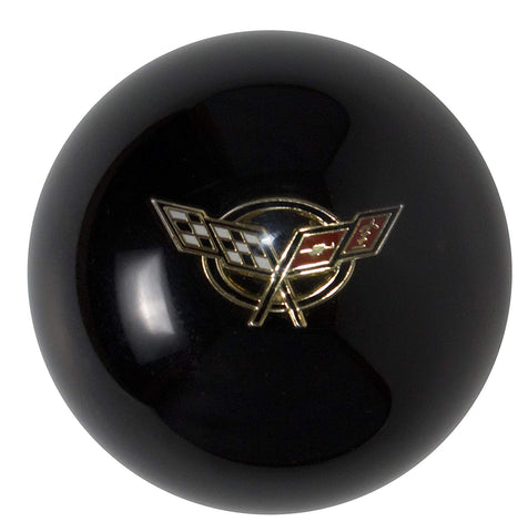 Black C5 Ball w/ White Crossflags