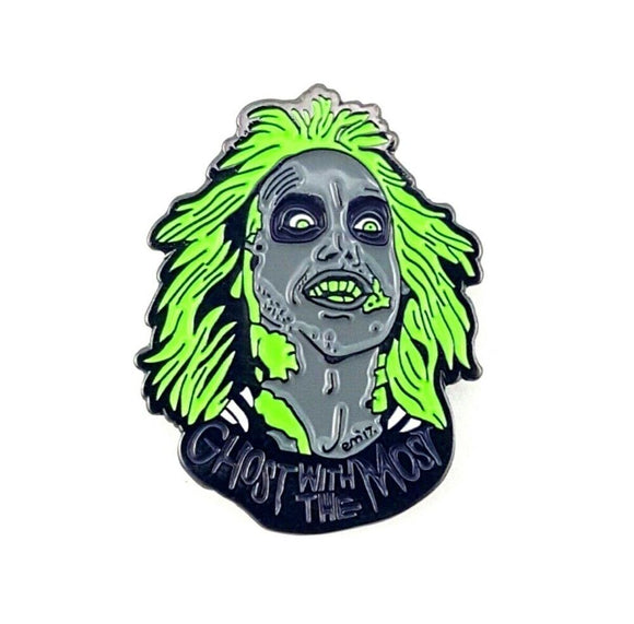 Beetlejuice Ghost With The Most Enamel Pin