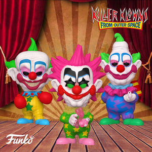 Killer Klowns From Outer Space Funko Pop Set of 3 - Spikey, Shorty, and Jumbo