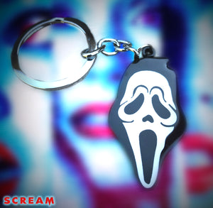 Scream Metal Ghostface Keychain