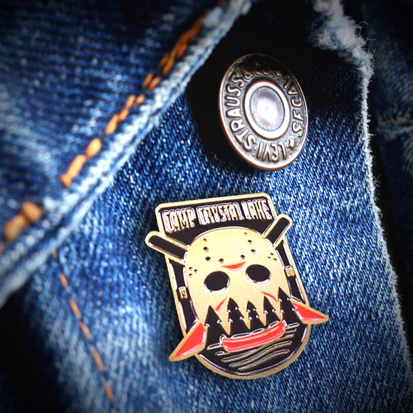 Friday the 13th Camp Crystal Lake Pin