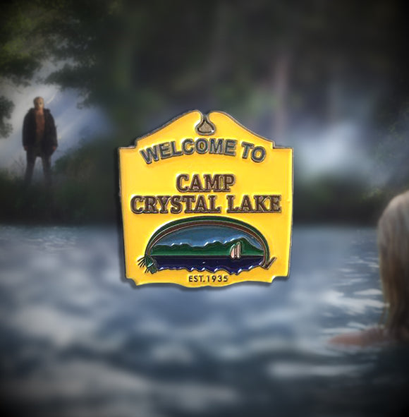 Welcome To Camp Crystal Lake Enamel Pin