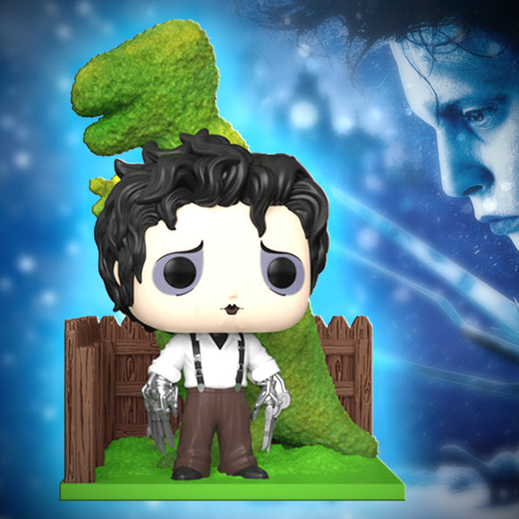 Funko Pop Deluxe - Edward Scissorhands with Dino Hedge