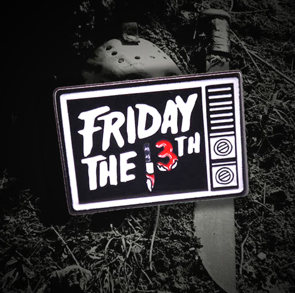 Friday the 13th TV Enamel Pin