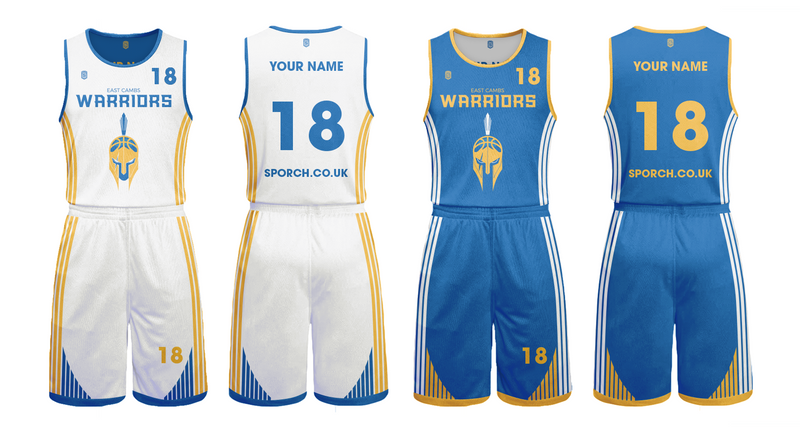 East Cambs Warriors Kids Game Reversible Kits