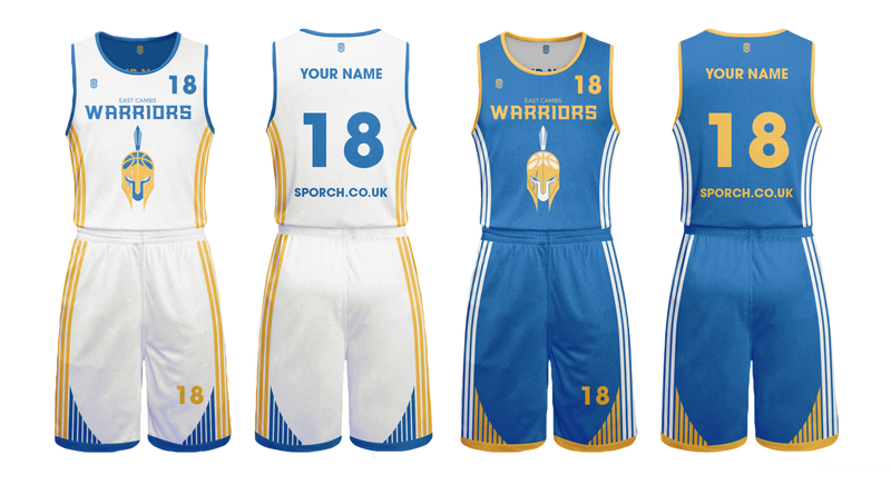 East Cambs Warriors Game Reversible Kits
