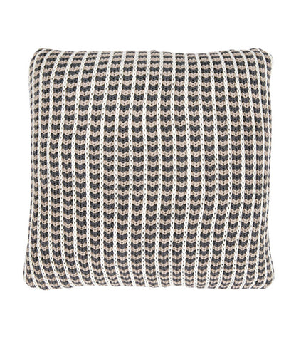 Cojín Olivia Gris Oscuro Natural 45x45 cm | Olivia Cushion Dark Grey Natural 45x45 cm