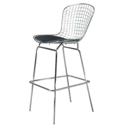 Banco Ruby Cromo (Malla Metálica) |  Chrome Ruby Bar Stool (Metal Mesh)