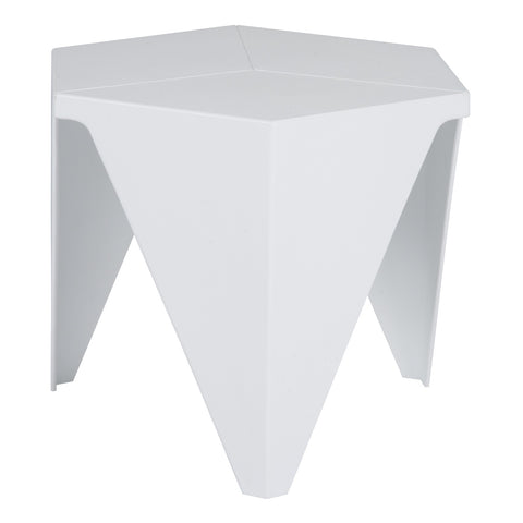 Mesa Lateral Prisma Blanca | Prisma White Side Table