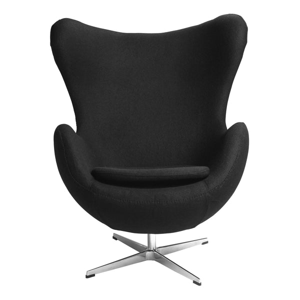 Sillón Egg de Tela Negro | Black Fabric Armchair Egg