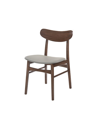 Silla London Nogal Gris | London Grey Walnut Chair