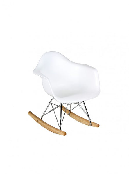 Mecedora Berlín Niños Blanca | White Berlin Kids Rocking Chair