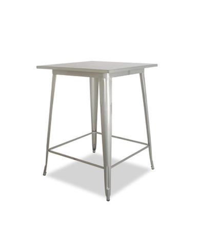 Mesa Banco Blum X Galvanizado 60 x 60 cm | Blum X Bench Table Galvanized 60 x 60 cm