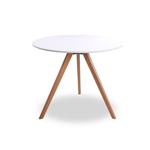 Mesa Comedor Milano Blanco 90 Diametro | White Milano Dining Table 90 Diameter