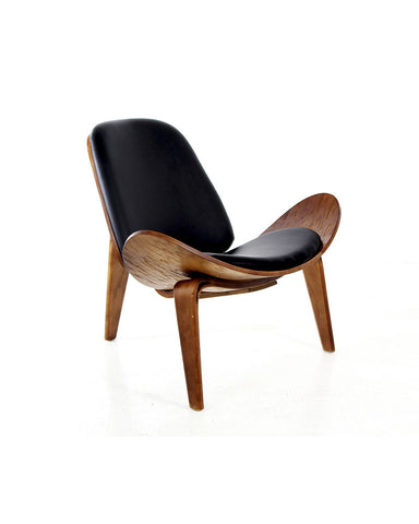 Silla Wegner Nogal Negra | Wegner Walnut Black Chair