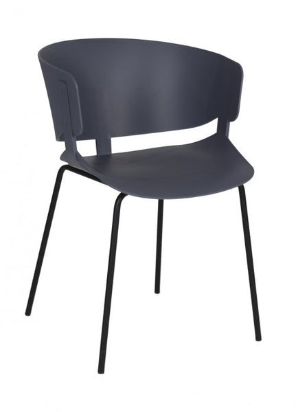 Silla Ginger Gris Oscuro | Dark Gray Ginger Chair