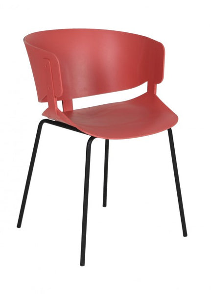Silla Ginger Rojo Coral | Ginger Coral Red Chair