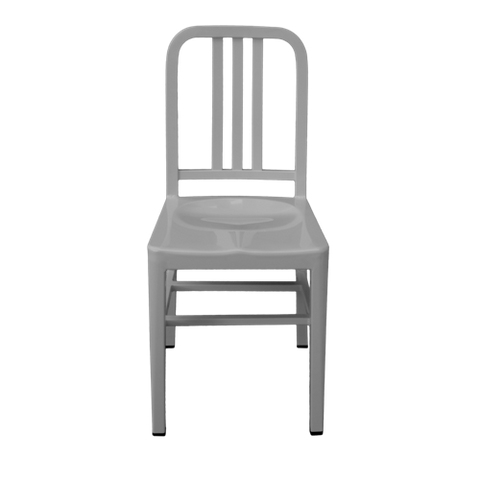 Silla Marín Metal Gris Claro | Light Gray Marin Chair