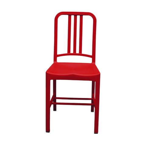 Silla Marín Metal Roja | Red Marin Chair