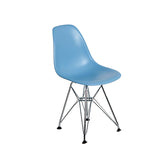 Silla Berlín Niños Pata de Metal Azul | Chair Berlin Kids Blue Metalic Leg