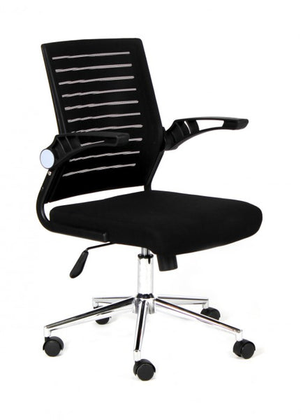 Silla de Oficina Málaga Negra Respaldo Negro | Malaga Black Office Chair with Black Backrest