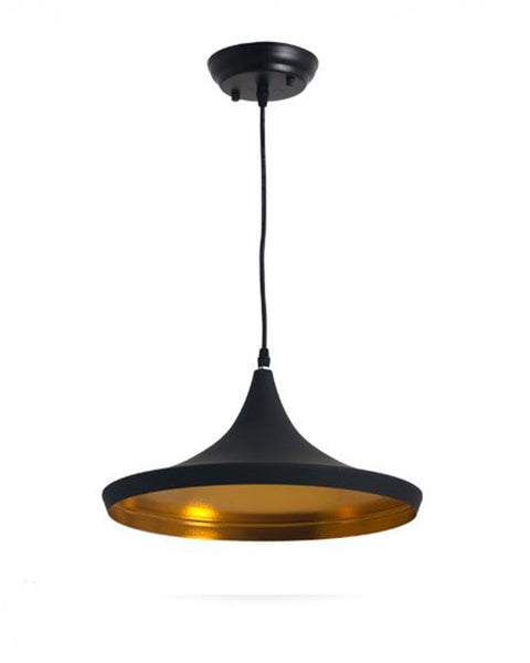 Lámpara de Techo Pan Negro Dorado | Gold Black Bread Ceiling Lamp