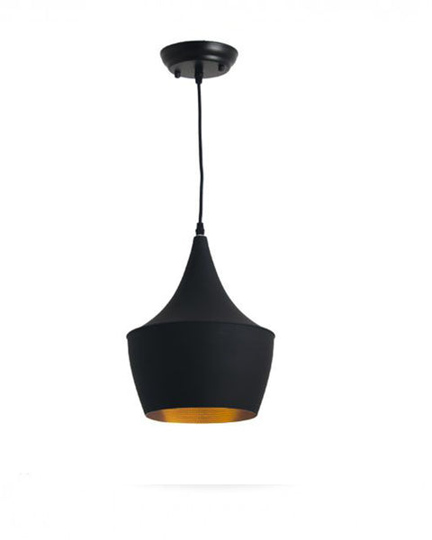 Lámpara de Techo Pot Negro Dorado |  Golden Black Pot Ceiling Lamp