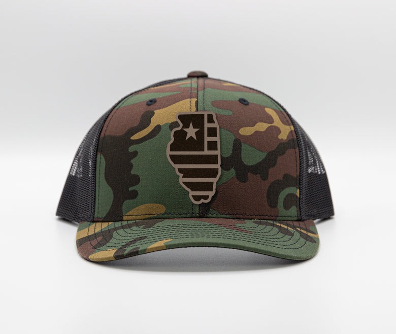 Illinois Camo Trucker
