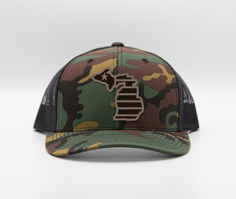 Michigan Camo Trucker