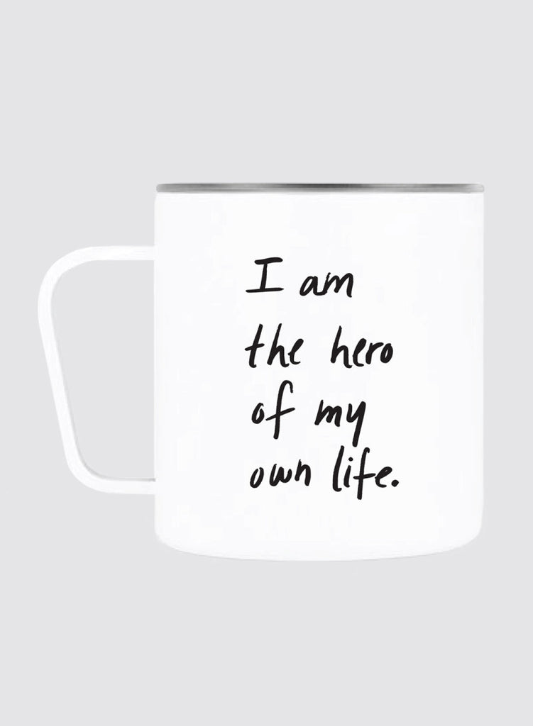 12oz Camp Mug — You're The Hero Of Your Own Life