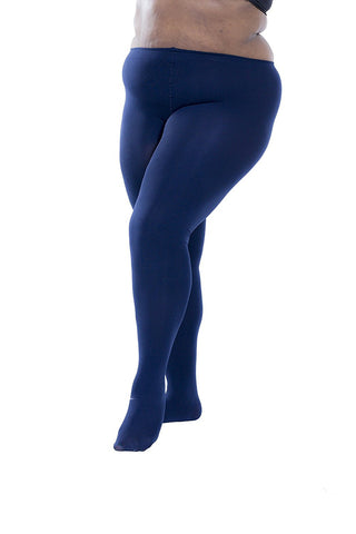 6 Pack of Plus Size Thermal Tights, Solid Colors