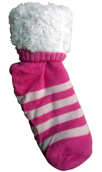 3 Pairs of Sockbin Womens Fluffy Sherpa Lined Socks, Gripper Sole, Cozy