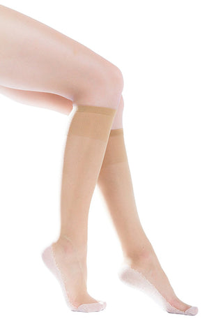 6 Pairs of Felicity Womens Sheer Trouser Socks, Cotton Sole, Ladies Nylon Dress Socks Size, 9-11