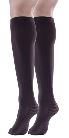 Womens Opaque Knee High Socks, 80 Denier, Stretchy, Massage Sole (6 Pairs)