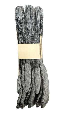 3 Pairs of Sockbin King Size Merino Wool Thermal Socks, Grays, Size 13-16