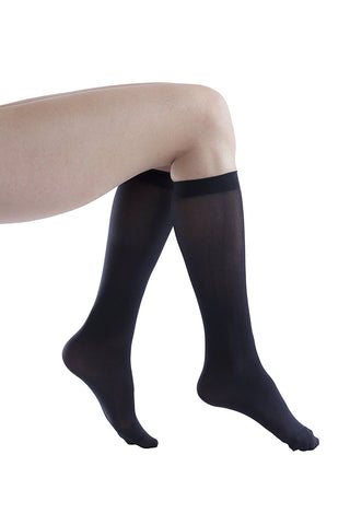 Felicity Womens Knee High Dress Socks, Nylon Trouser Sock, 80 Denier ( 12 Pairs )