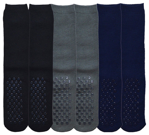 6 Pairs Womens Gripper Socks, Non Skid Socks, Soft Cotton Slipper Socks for Women