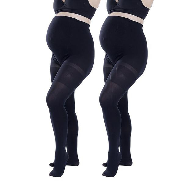 Felicity Opaque Maternity Tights (SM,M / L,XL) 2 Packs
