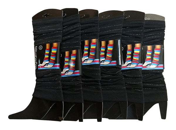 Sockbin Womens Girls Colorful Legwarmers, Bulk Packs