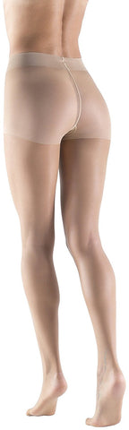 Womens Silky Ultra Sheer Pantyhose, 15 Denier, Invisible Effect Nude Hosiery, Durable (1 Pair)