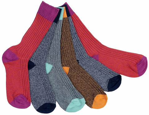 6 Pairs of Sockbin Men's Colorful Thick Warm Winter Boot Socks