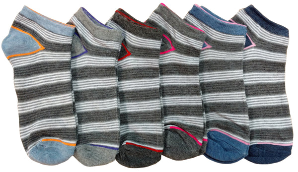 6 Pairs of XOXO Women Socks Low Cut, Womens Ankle Socks, Low Cut Socks 6 Pack