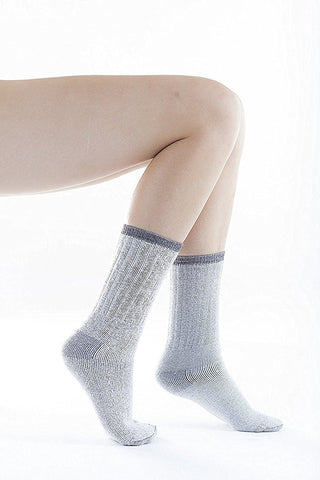 3 Pairs of Sockbin Women's Merino Wool Thermal Socks, Grays